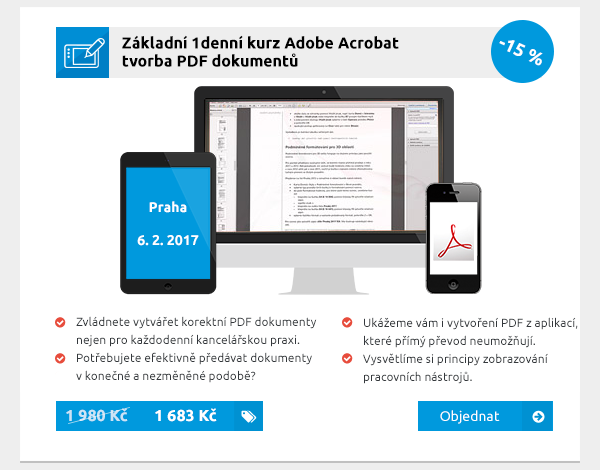 Základní 1denní kurz Adobe Acrobat