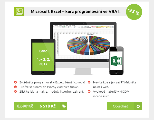 Microsoft Excel – kurz programování ve VBA I.