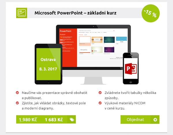 Microsoft PowerPoint – základní kurz