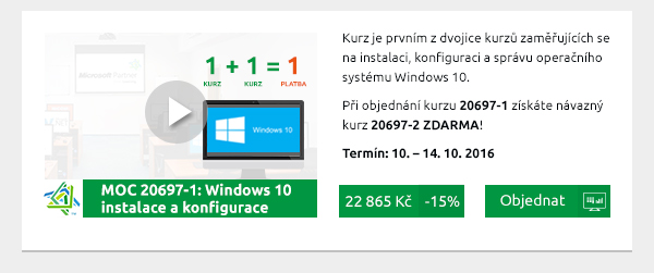 MOC 20697-1: Windows 10 – instalace a konfigurace